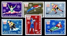 RUMANIA 1976 - OLYMPICS INNSBRUCK 76 - YVERT Nº  2937-2942 - Invierno 1976: Innsbruck