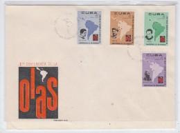 Cuba 1ST OLAS CONFERENCE FDC 1967 - FDC