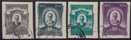 4892. Russia USSR 1944 Composer Nikolai Rimsky-Korsakov, Imperforated, Used (o) Michel 918b-921b - Used Stamps