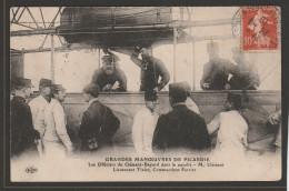 """CPA: Dirigeable: Les Officiers Du """"Clément Bayard"""" - M. Clément, Lieutenant Tixier, Commandant Ferrier - Dirigeables"""