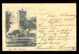 Udvozlet Aradrol - Viztorony / Year 1899 / Postcard Circulated - Romania