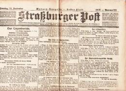 Straßburger Post - 1918 - Nummer 521 - Revues & Journaux