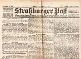 Straßburger Post - 1918 - Nummer 371 - Revues & Journaux
