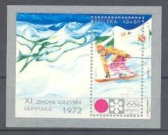 POLONIA 1972 - OLYMPICS SAPPORO 72 - YVERT BLOCK Nº 55