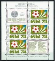 POLONIA 1974 -FOOTBALL WORLD CHAMPIONSHIP GERMANY 74 - YVERT BLOCK Nº 66 - Copa Mundial