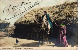 Uruguay  Montevidéo Escenas Camprestres  Cavalier - Cheval Très Très Rare - Uruguay