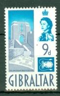 Gibraltar: 1960/62   QE II - Pictorial     SG168    9d      MH - Gibraltar