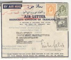 Marcophilie - Lettre De Transjordanie Vers La Suisse 1947 - Jordanie