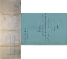CUPRAMONTANA 1926 PROGETTO AMPLIAMENTO CASA COLONICA CON PLANIMETRIA BOLLATA TIMBRATA E FIRMATA - Carte Topografiche