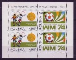 POLONIA 1974 - FOOTBALL WORLD CHAMPIONSHIP GERMANY 74 - YVERT BLOCK Nº 65 - Copa Mundial