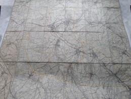 """"""" ALTKIRCH """" Kaart Op Katoen / Linnen / Cotton - Stamp PECHELBRONN S.a.  EM Service Géomètres ( Zie Foto´s ) ! - Geographical Maps"""