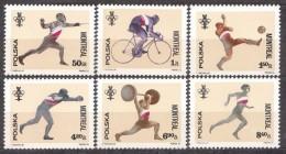 POLONIA 1976 - OLYMPICS MONTREAL 76 - YVERT Nº 2285-2290 - Verano 1976: Montréal