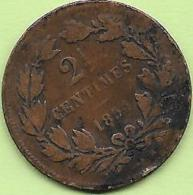 2 1/2 CENTIMES BRONZE 1854 - Luxembourg