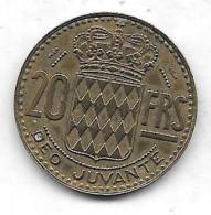 20 Francs Principauté De Monaco 1950 Qualité+++++++++++++ - 1949-1956 Anciens Francs