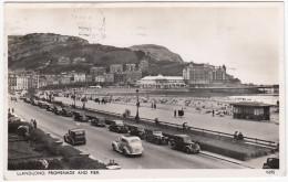 Llandudno: HUMBER SNIPE SALOON, OLDTIMER CARS - Promenade And Pier - (Wales) - Postkaarten