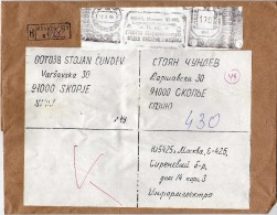 Moscow.Russia & USSR Via Yugoslavia.Macedonia.1989.R - Letter. Mashine Stamp.Big Cover - 1923-1991 UdSSR