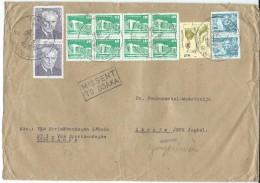 Germany > [6] Democratic Republic Via Yugoslavia.Macedonia.1982.letter.nice Stamps.,MISSENT TO OSAKA,Japan.Big CoverRARE - Briefe U. Dokumente