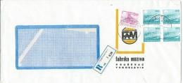 R - Letter.factory Lubricants FAM Krusevac,Serbia,Yugoslavia - 1945-1992 République Fédérative Populaire De Yougoslavie