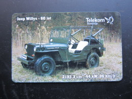 Chip Phonecard, Jeep Willys Car 1941,used - Slovénie