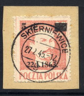 POLAND 1945 Anniversary Of January Rising Used On Piece.   Michel 389 - 1944-.... République