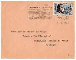 Vigny (n° 1375) Seul Sur Lettre Du 24.7.1963 Pour La SUISSE - 1961-....