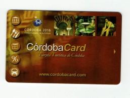 Tarjeta Turistica CORDOBA CARD  ,  SPAIN TOURISM - Otras Colecciones