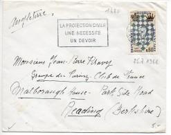 Jeu D'Echecs (n° 1480) Seul Sur Lettre Du 25.7.1966 Pour La GRANDE-BRETAGNE - 1961-....