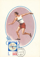 D25712 CARTE MAXIMUM CARD 1964 ROMANIA - ATHLETICS THROWING THE DISCUS BALKAN GAMES CP ORIGINAL - Athletics