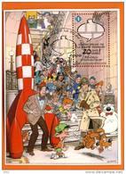 2009-SUPER*****OBLITERE 1ER JOUR   - Le Centre De La Bd BRUXELLES En Fete - 20 è An -copyrigt Dany TINTIN- CHAT-BOB BOBE - Comics