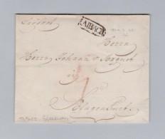 Slovenien LAIBACH Langstempel 1822-10-22 Brief Ohne Inhalt Nach Klagenfurt - Slovénie