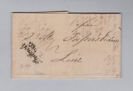 Slovenien LAIBACH Schriftstempel 1842-12-07 Brief Nach Linz - Slovénie