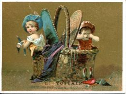 N°84 H  -chromos L Tostain à Caen -mercerie, Lingerie- - Confiserie & Biscuits