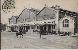 CPA Loiret Orléans Circulé Gare Train Chemin De Fer Tramway - Orleans