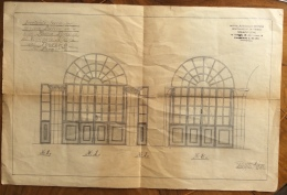 PIATTELLO VILLAGGIO ALPINO  T.C.I. PROGETTO ORIGINALE  VETRATA IN FERRO ALLA VILLA DI MARIO PANDINI - DISEGNATO A MANO - Cartes Topographiques