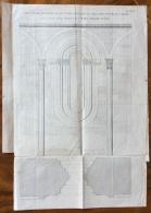 PAVIA BASILICA DI S.MICHELE MAGGIORE ANTICA STAMPA DELLA  FINESTRA ARCUATA SCOPERTA NEL 1863  DIM. 20x32 - Mappe