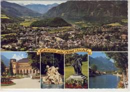 """Grüsse Aus BAD ISCHL - Flugaufnahme, Panorama,  Kurhaus,  Brunnen Und """"Lauscher"""", Traunpromenade - Bad Ischl"""
