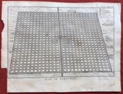 BABILONIA ANTICA STAMPA PLAN DE BABYLONE - Mappe