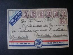 AIR FRANCE - LETTER SENT FROM MONTEVIDEO (URUGUAY) FOR RIO DE JANEIRO (BRAZIL), AS - Posta