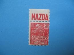 Bande Pub Mazda Sur 50 Ct Rouge Type Femme Fachi ( Légères Adherences) - Advertising