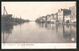 Cartolina Chioggia, Canale S. Domenico - Chioggia