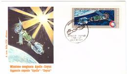 STORIA POSTALE - USA - FDC ROMA - ANNO 1975 - MISSIONE SPAZIALE CONGIUNTA USA - URSS -  AGGANCIO CAPSULE: APOLLO - SOYUZ - America Centrale