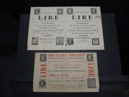 FRANCE - Lot De Documents Anciens Liés Au Commerce De Timbres Poste - Essentiellement Avant 1900 - A Voir - P20686 - Catalogues De Maisons De Vente
