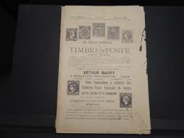 """FRANCE - Journal Mensuel """"Le Collectionneur"""" D'Arthur Maury - Dec 1897 - A Voir - P20687 - Cataloghi Di Case D'aste"""
