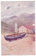 SAGONE. - Barque Sur La Plage. Superbe Carte Illustrée Par EVEN En 1906.  Editions JDC - France