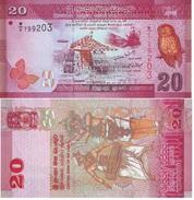 Sri Lanka 20 Rupees 2010 Pick 123.a SIN CIRCULAR - UNC - Sri Lanka