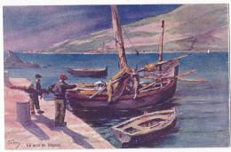 SAGONE. - Le Quai . Superbe Carte Illustrée Par EVEN En 1906.  Editions JDC - France