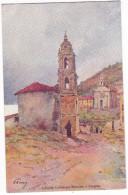 CARGESE. - L'Eglise Catholique Romaine . Superbe Carte Illustrée Par EVEN En 1906.  Editions JDC - France