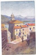CARGESE. - L´Eglise Catholique Grecque . Superbe Carte Illustrée Par EVEN En 1906.  Editions JDC - France