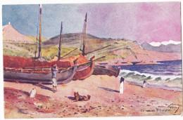 CARGESE. - La Marine. -  Superbe Carte Illustrée Par EVEN En 1906.  Editions JDC - France