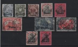 LEVANT : BUREAUX ALLEMANDS . 10 EX . * ET OBL . 1884/08 . B . - Offices: Turkish Empire